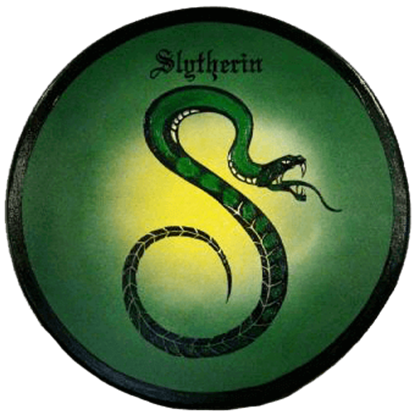 Wooden Slytherin House Shield