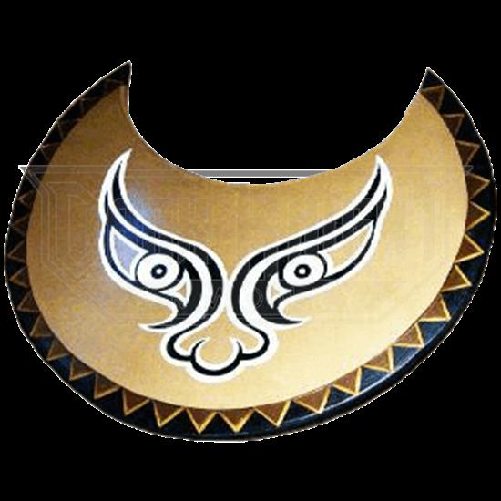 Wooden Greek Bronze Face Shield