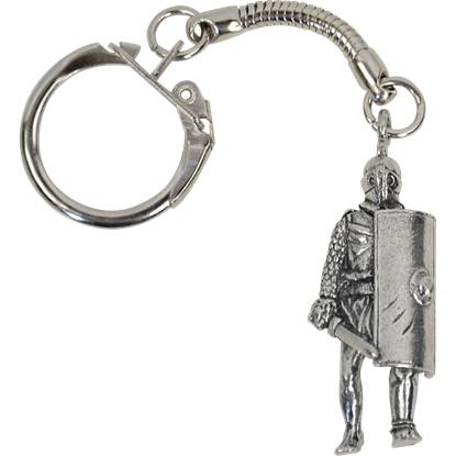 Gladiator Figure Key Ring