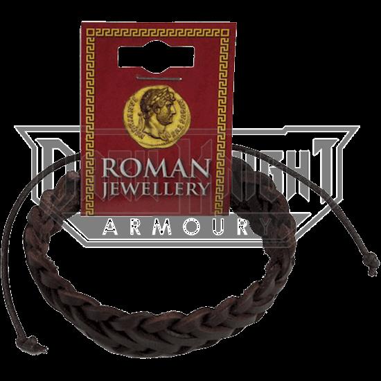Roman Leather Single Plait Bracelet