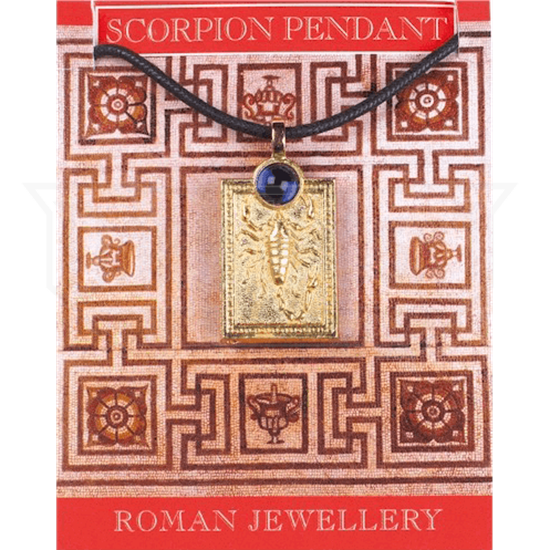 Gold Plated Scorpion Gem Necklace
