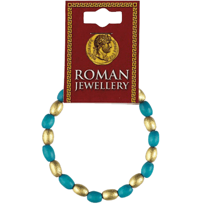 Roman Turquoise and Gold Bead Bracelet