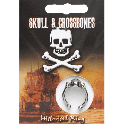 Pewter Skull And Crossbones Ring