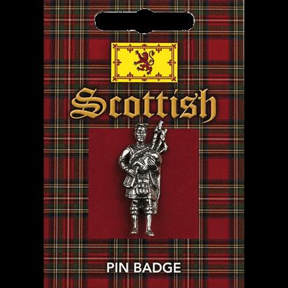 Scottish Piper Pin Badge