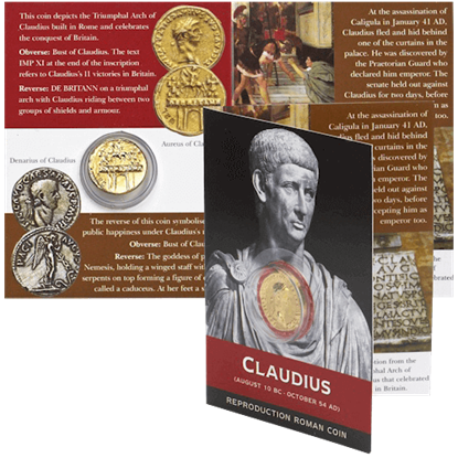Aureus Of Claudius Replica Coin Pack