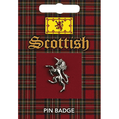 Scottish Unicorn Pin Badge