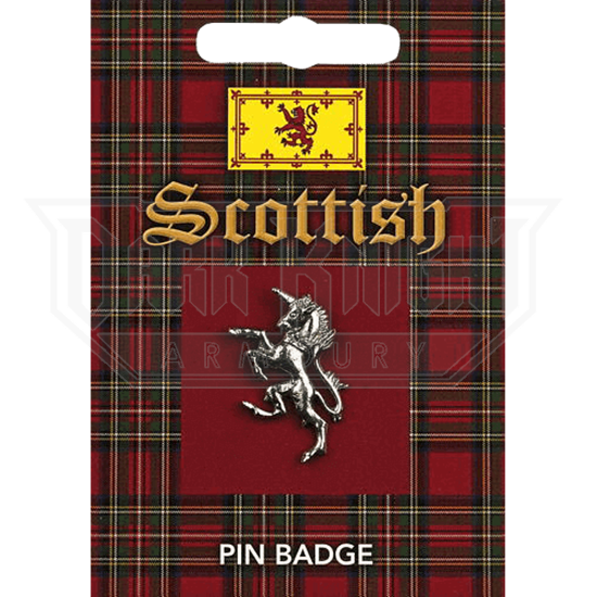 Scottish Unicorn Pin Badge