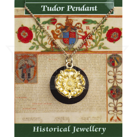 Gold Plated Tudor Rose Necklace