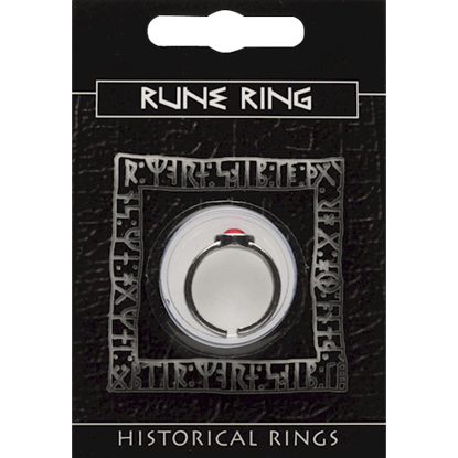 Pewter Rune Gem Ring