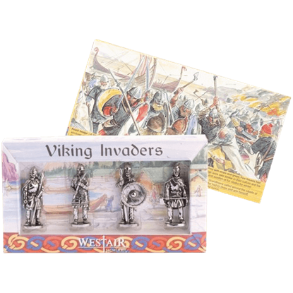 Set Of 4 Viking Warriors