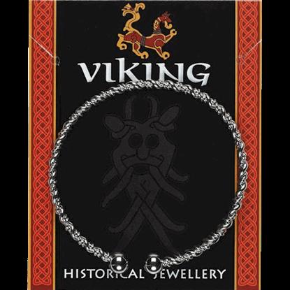 Silver Viking Twist Bracelet