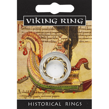 Golden Viking Twist Ring