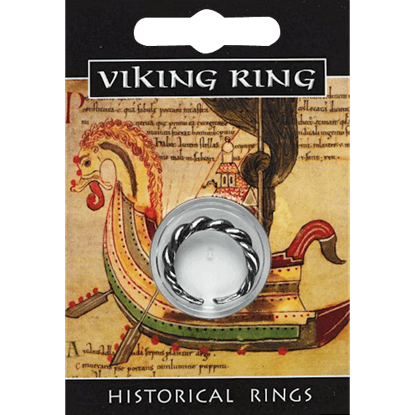 Pewter Viking Twist Ring