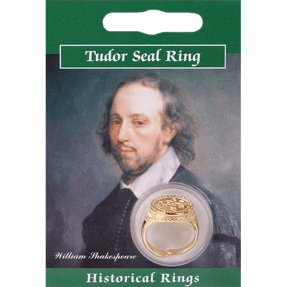 Gold Plated Tudor Seal Ring