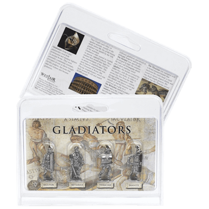 Roman Gladiator Miniature Figurine 4 Pack