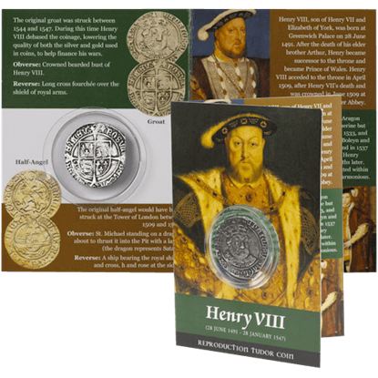 Henry VIII Groat Replica Coin Pack