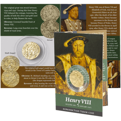 Henry VIII Half Angel Replica Coin Pack