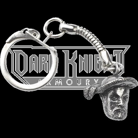 Henry VIII Bust Key Ring