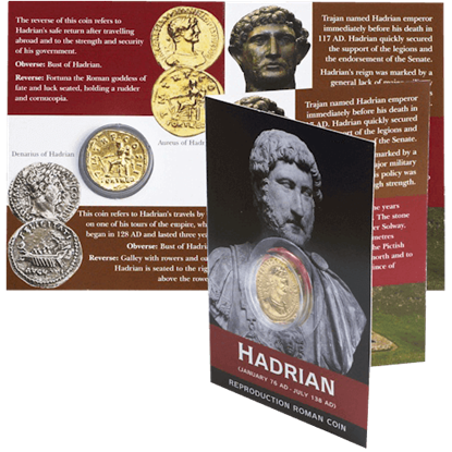 Aureus of Hadrian Replica Coin Pack