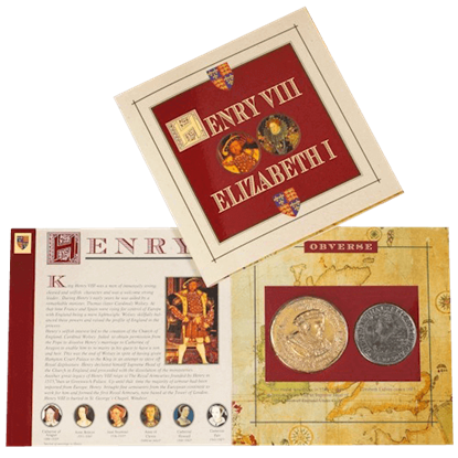 Henry VIII And Elizabeth I Replica Coin Pack