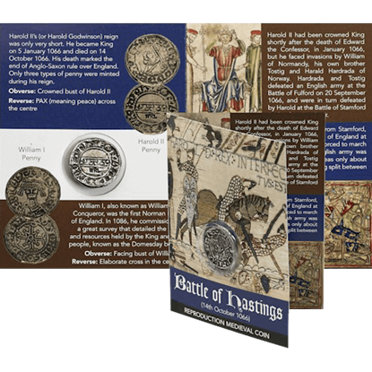Battle of Hastings Harold II Coin Pack