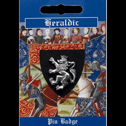 Pewter Heraldic Lion Pin Badge