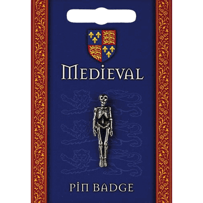 Heraldic Skeleton Pin Badge