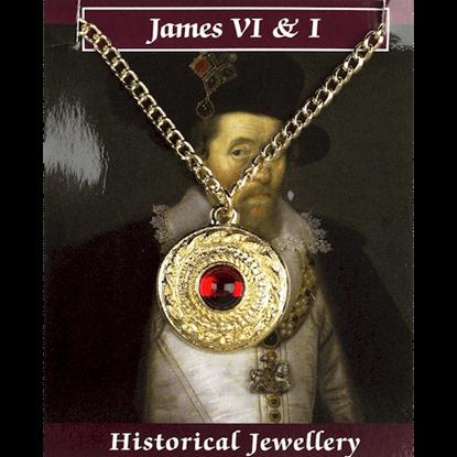 Gold Plated James VI Gem Necklace