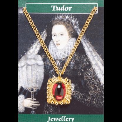 Gold Plated Elizabeth I Gem Necklace
