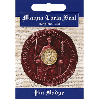 Golden Magna Carta Seal Pin Badge
