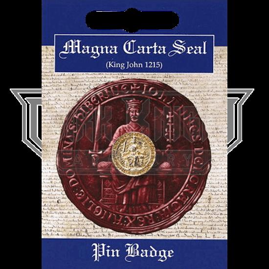 Golden Magna Carta Seal Pin Badge