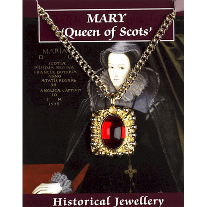Gold Plated Mary Queen of Scots Gem Necklace