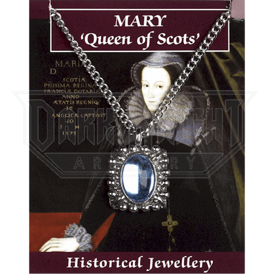 Pewter Mary Queen of Scots Gem Necklace