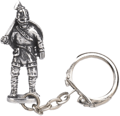 Viking Warrior Figure Key Ring