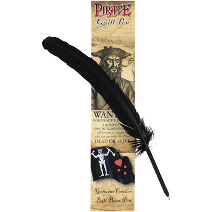Black Pirate Quill Pen
