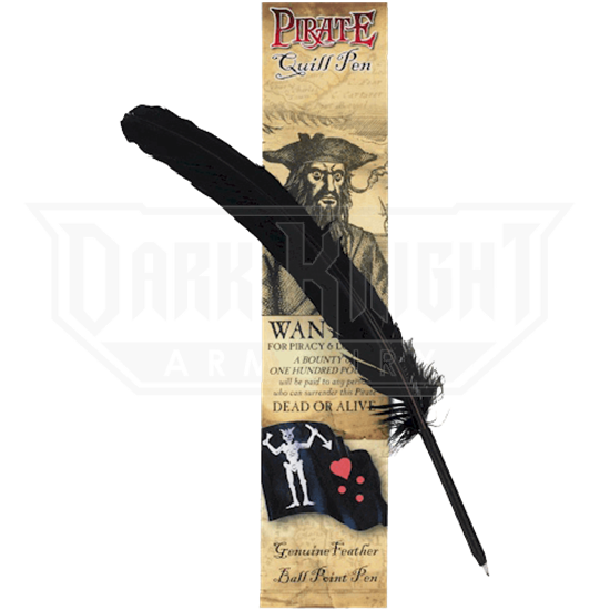 Black Pirate Quill Pen
