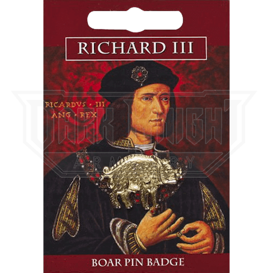Golden Richard III Boar Pin Badge