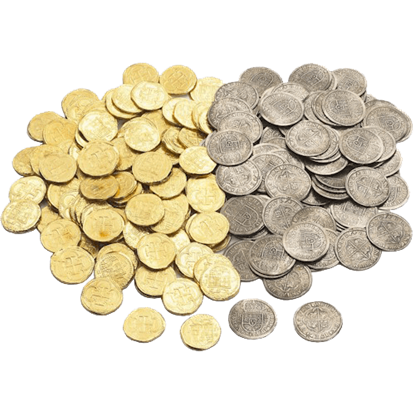 50 Mixed Pirate Treasure Coins