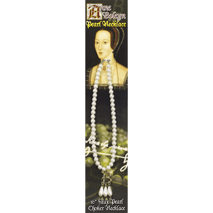 Anne Boleyn Faux Pearl Choker Necklace