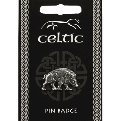Celtic Boar Pin Badge