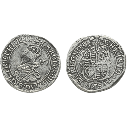 Charles I Tower Min Sixpence Replica Coins