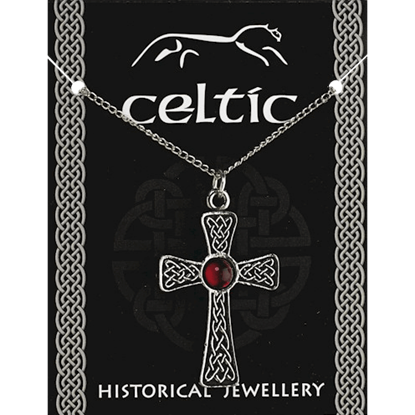 Ancient Celtic Gem Cross Necklace