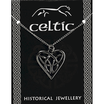Celtic Interlaced Heart Necklace