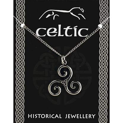 Ancient Celtic Triskele Necklace