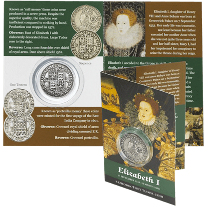Sixpence Elizabeth I Replica Coin Pack
