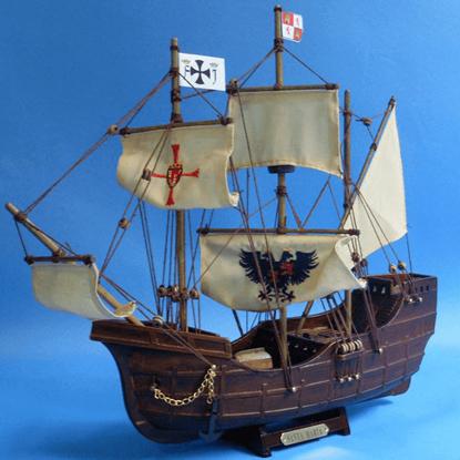 14 Inch Santa Maria Model Ship
