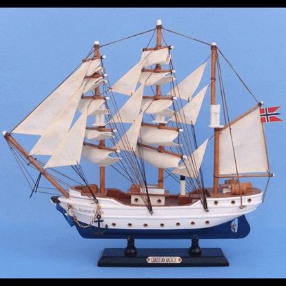 14 Inch Christian Radich Model Ship
