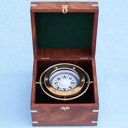 Brass 4.5 Inch Gimble Compass