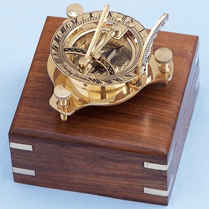 Brass 3 Inch Sundial Compass
