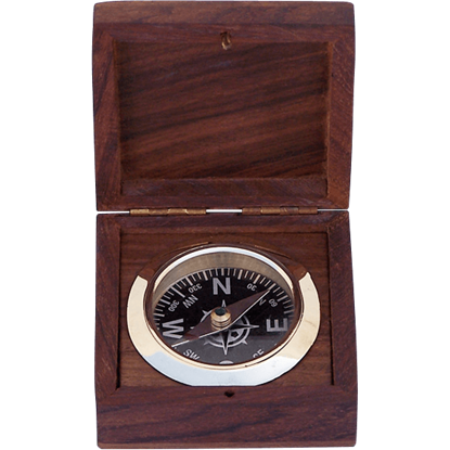 Boxed Black Desk Compass